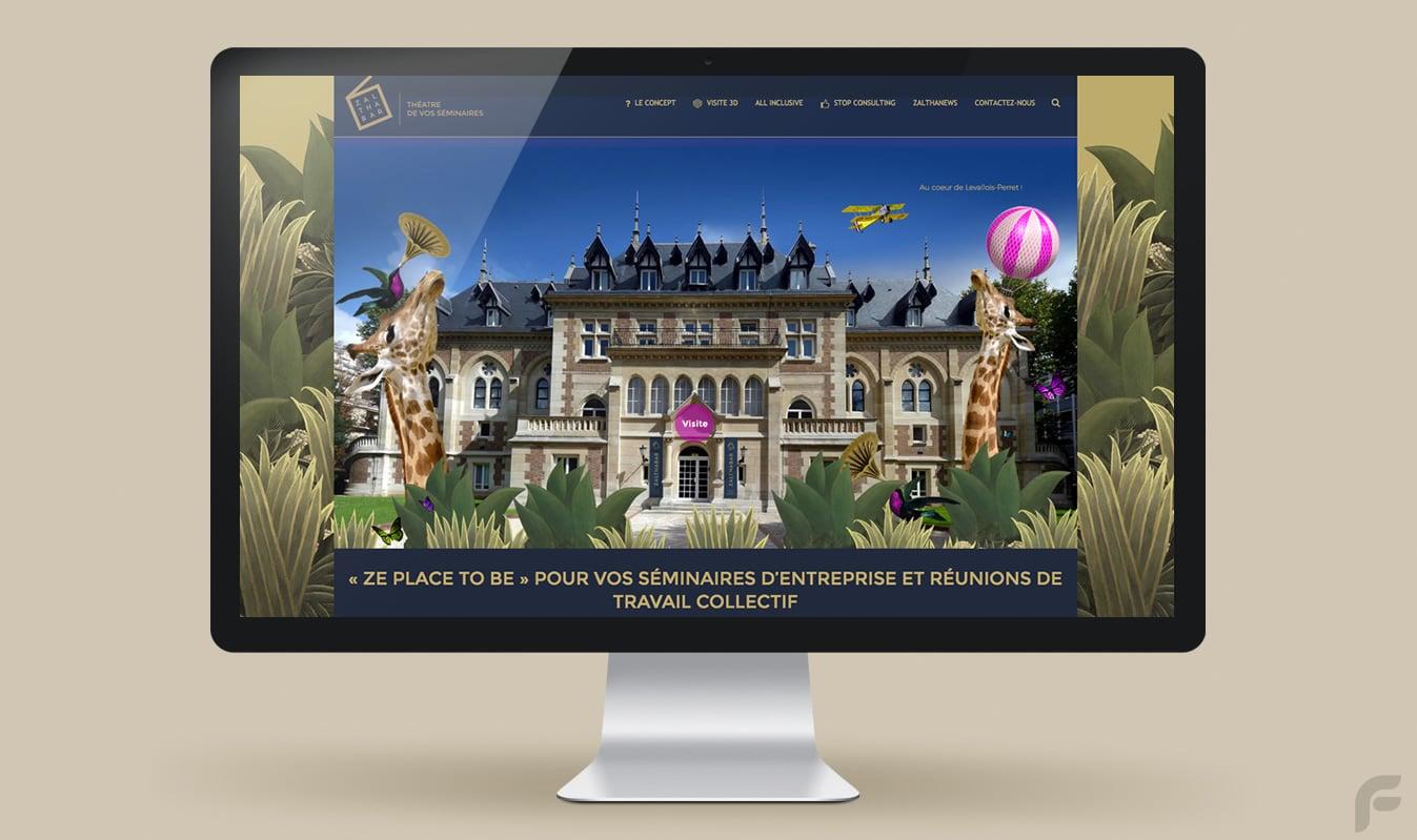 Frametonic création site internet Zalthabar Levallois